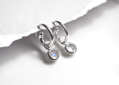 Phoebe Moonstone Mini Hoops