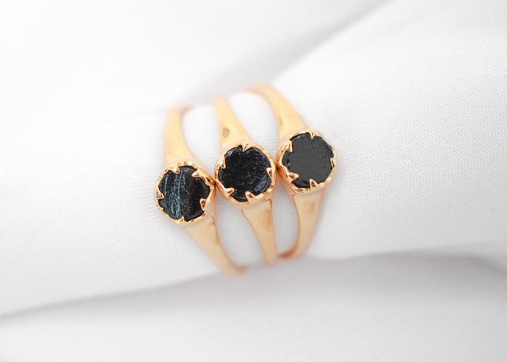 Lilith III Black Obsidian Ring