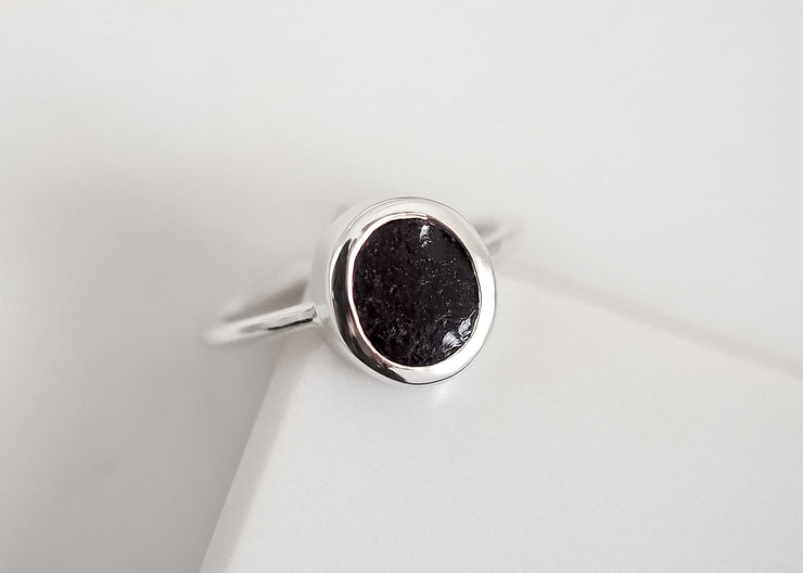 Lilith II Black Obsidian Ring