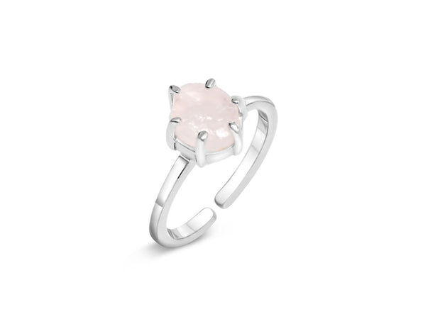 Bella II Rose Quartz Ring
