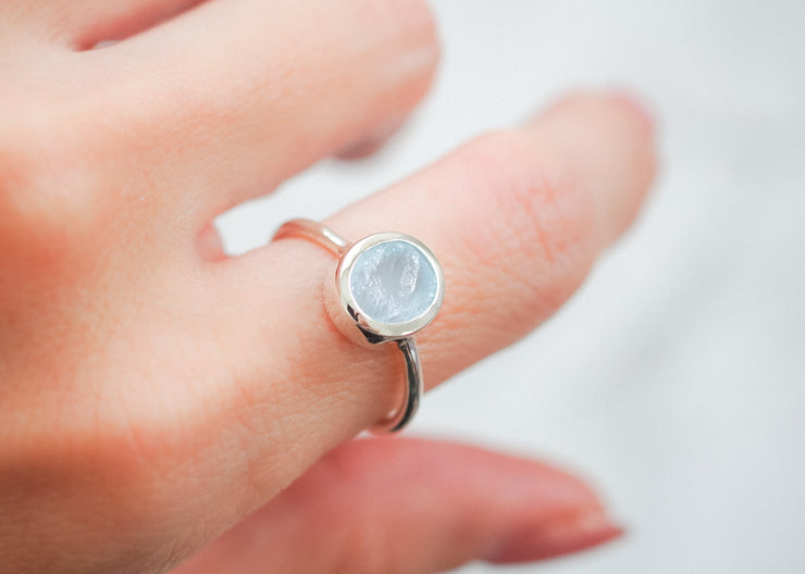 Ellie II Sky Blue Topaz Ring