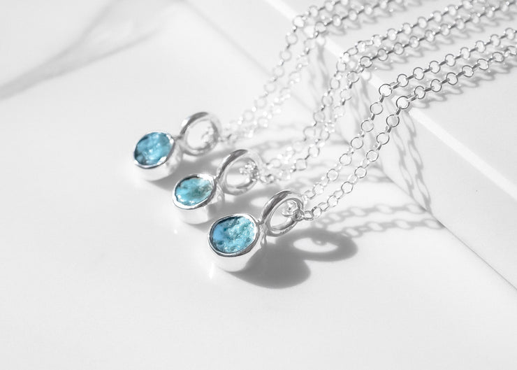 Cielo Turquoise Charm Necklace
