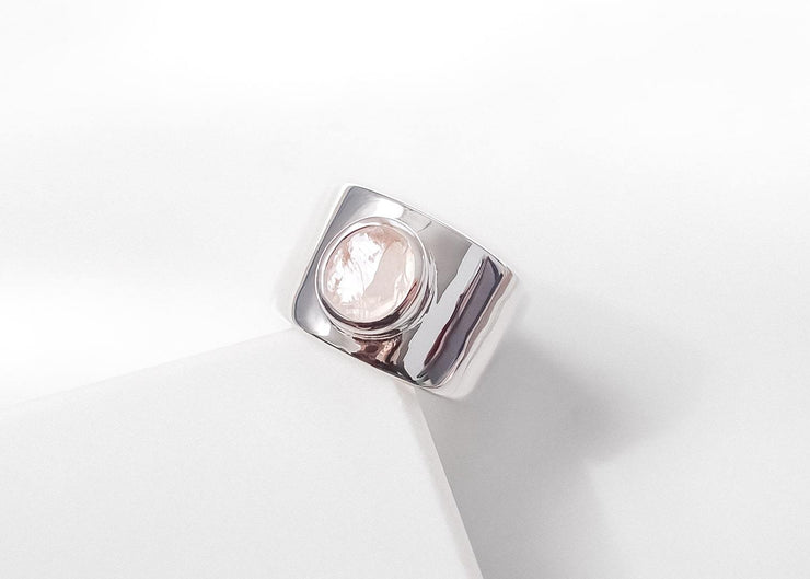 Bella IV Rose Quartz Ring