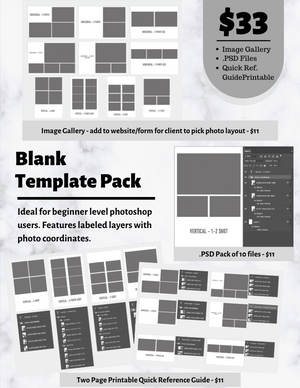 Blank Template Pack