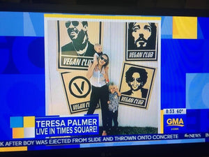 Vegan Club on ABC News Good Morning featuring actress Teresa Palmer at Eat Drink Vegan