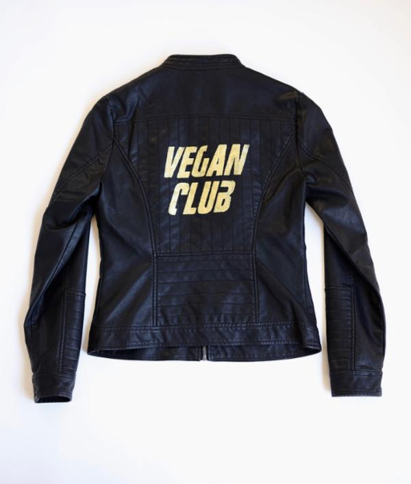 Vegan Club Black Faux Leather Jacket