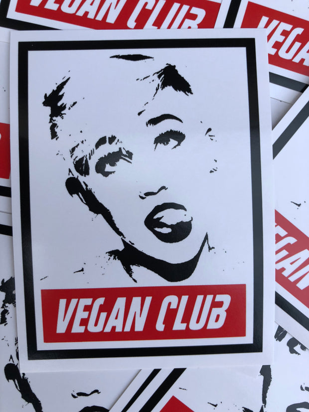 12 Vegan Club Miley Cyrus Stickers