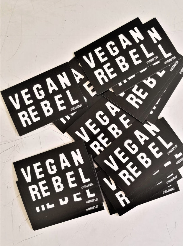 12 Small Vegan Rebel Stickers