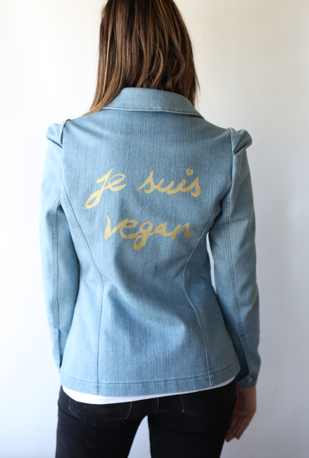"Haute Couture One of a Kind Up-cycled New Jacket ""Je Suis Vegan"" Collab & Design by Jarod-Pi"