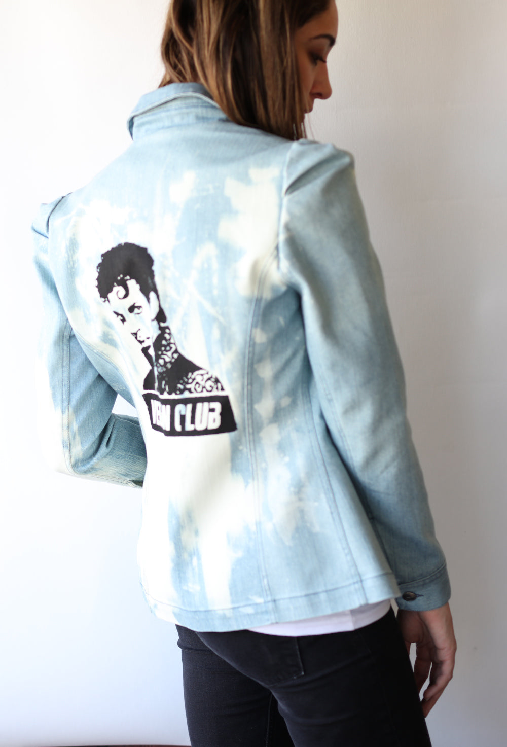 "Haute Couture One of a Kind Up-cycled New Jacket featuring ""Prince"" Collab & Design by Jarod-Pi"