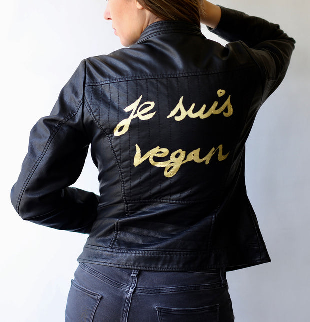 Je Suis Vegan Faux Leather Jacket