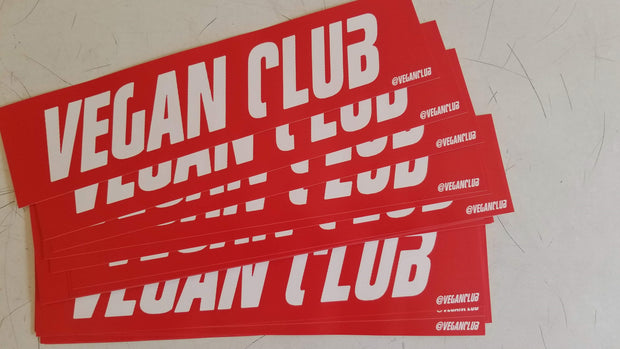 2 Large Vegan Club Stickers