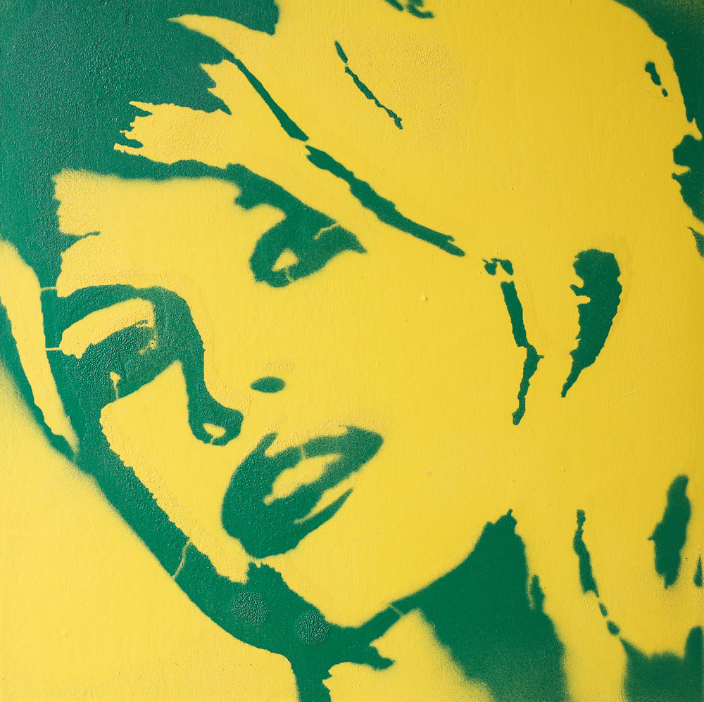 8x8 Original Artwork Brigitte Bardot Yellow & Green
