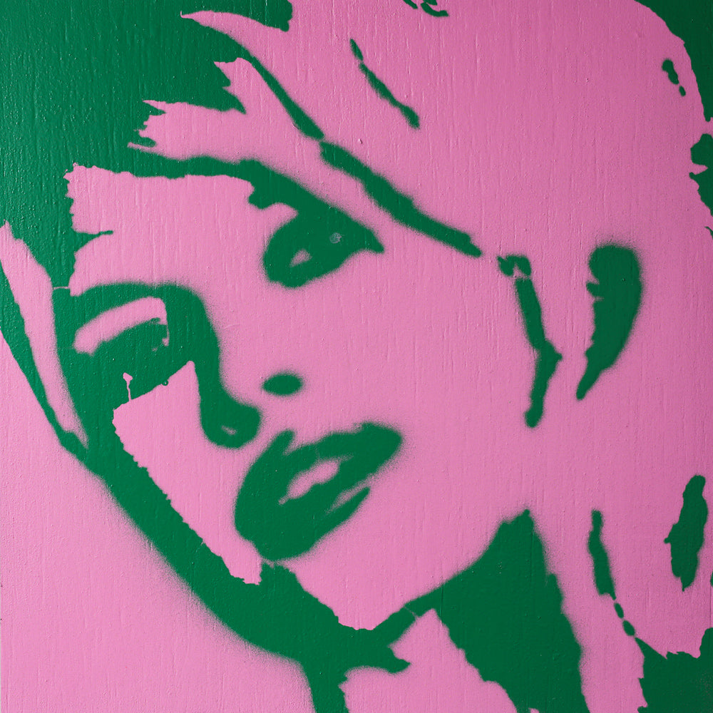 8x8 Original Artwork Brigitte Bardot Pink & Green