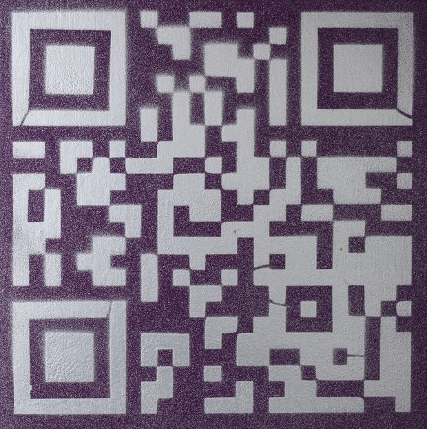 Original Artwork QR Code (Actual Size of a Hen Cage) Silver & Purple