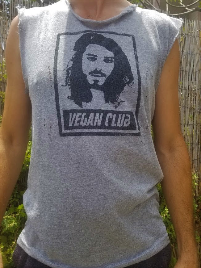 "Limited Edition Organic Made in USA T-shirt ""Vegan Club"" featuring Earthling Ed @earthlinged"