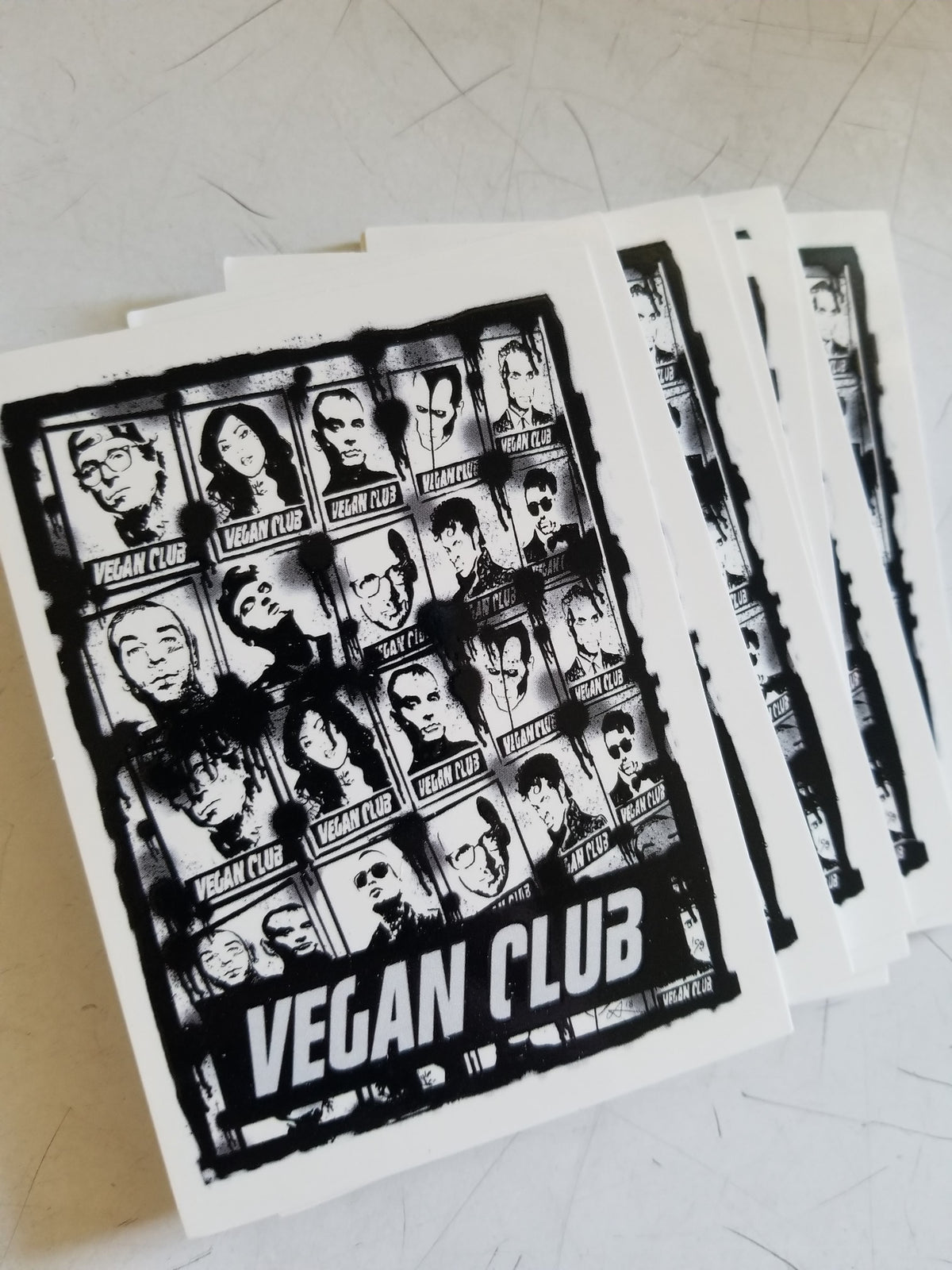 SOLD OUT - 12 Vegan Club Stickers with the vegan club gang 2018, collab with Anthony Proetta Jr