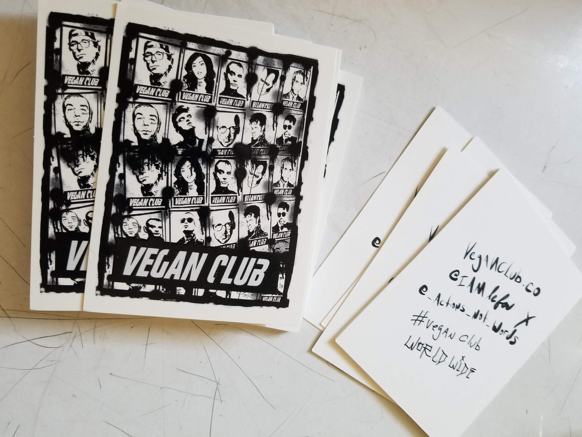 12 Vegan Club Stickers collab with Anthony Proetta Jr