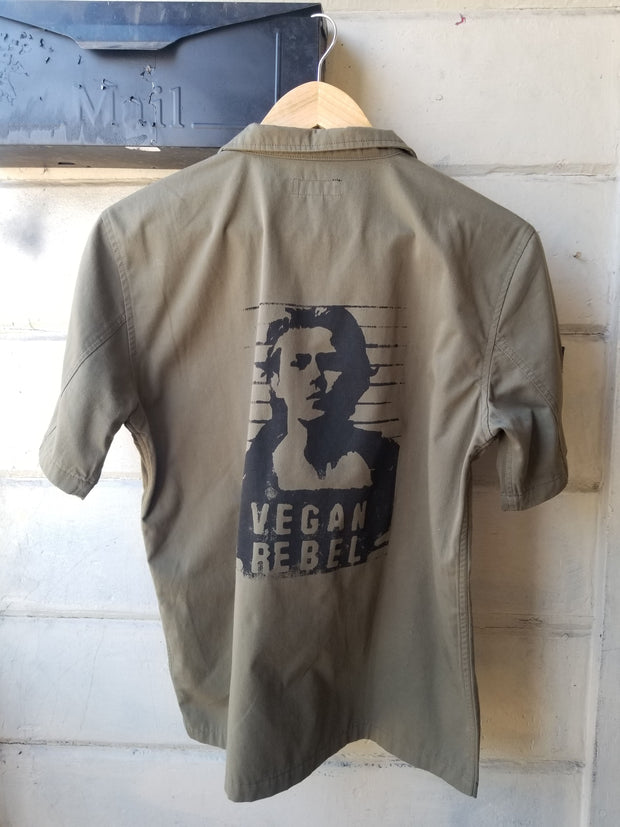 One of a Kind Upcycled Vegan Rebel shirt featuring River Phoenix by Le Fou