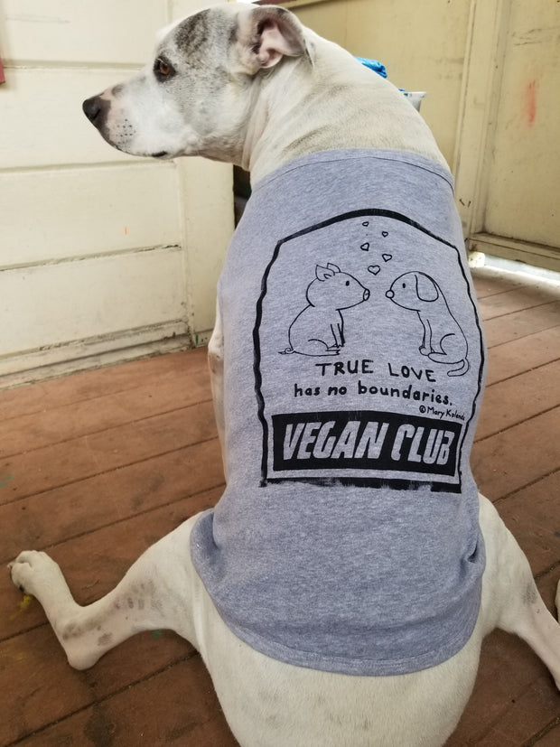 True Love has no Boundaries Vegan Club collab with Mary Kolende Dog Tee