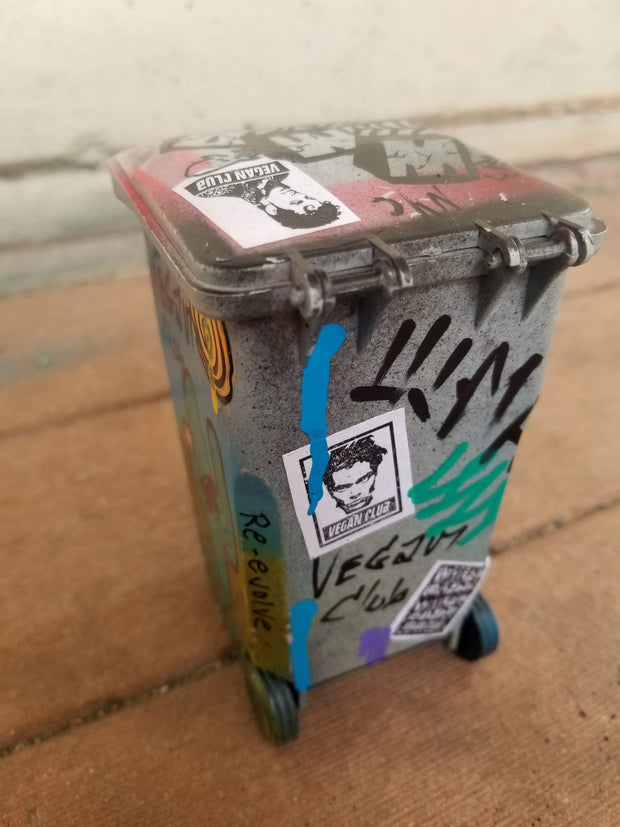 Trash Can tagged by Vegan Club, art by @_actions_not_words