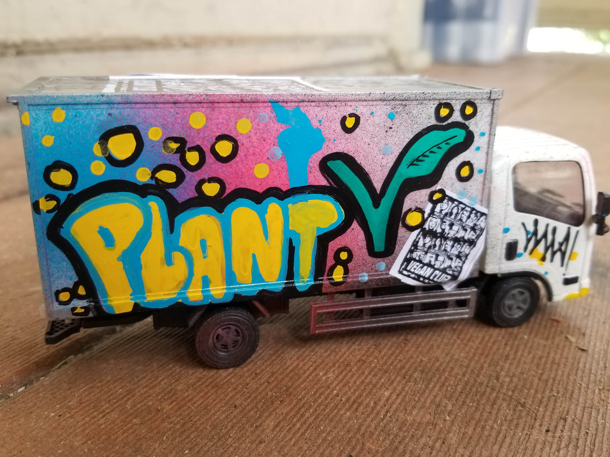 Truck tagged by Vegan Club, art by @_actions_not_words