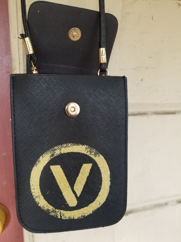 Up-cycled Vegan Leather Black Bag