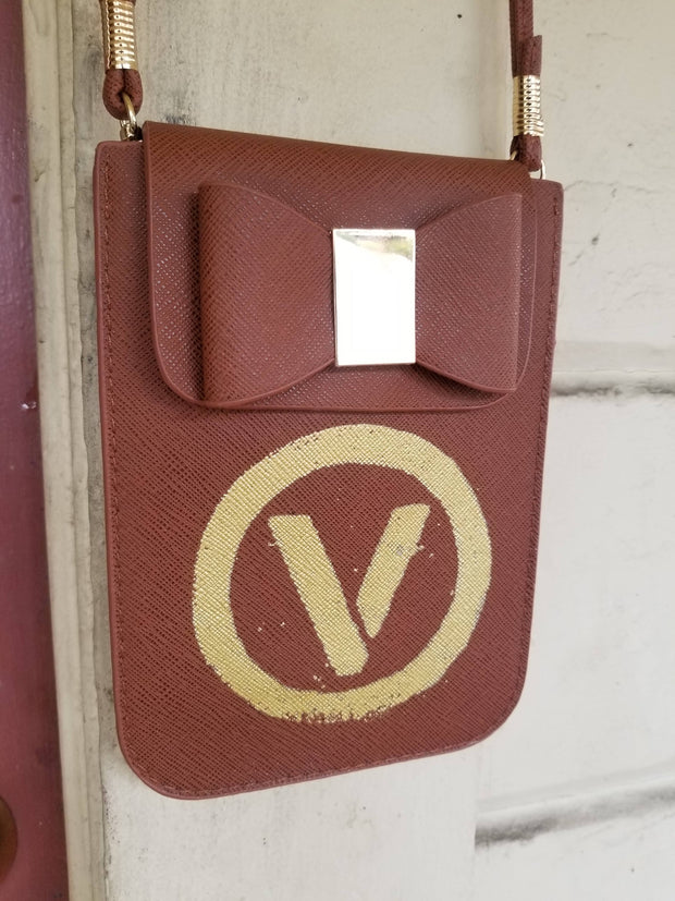 Up-cycled Vegan Leather Brown Bag