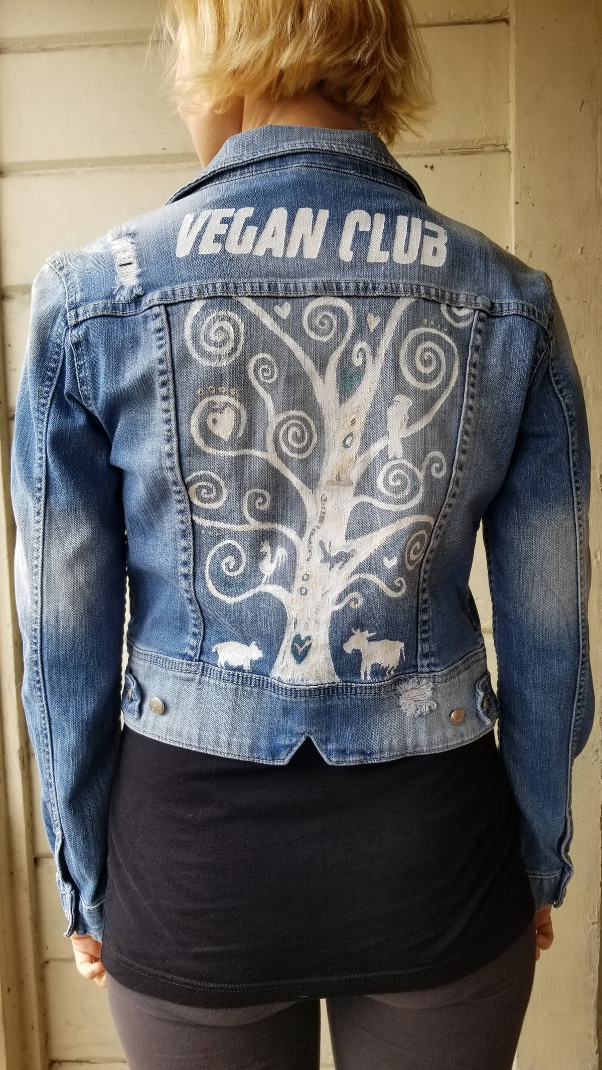 SOLD - Brandi Jae Collab Jean Jacket feat a Tree