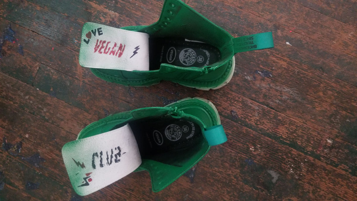 Let's Rock Baby! New Rock Shoe Collab with Vegan Club - One of a Kind