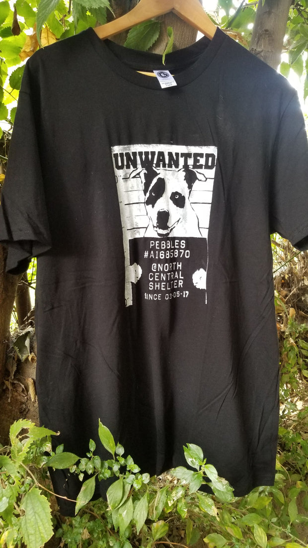 Pebbles - Unwanted Dog T-shirt - Found a Home!