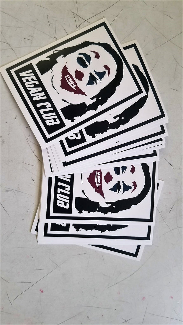 SOLD OUT - Vegan Club Stickers Joker - set of 10