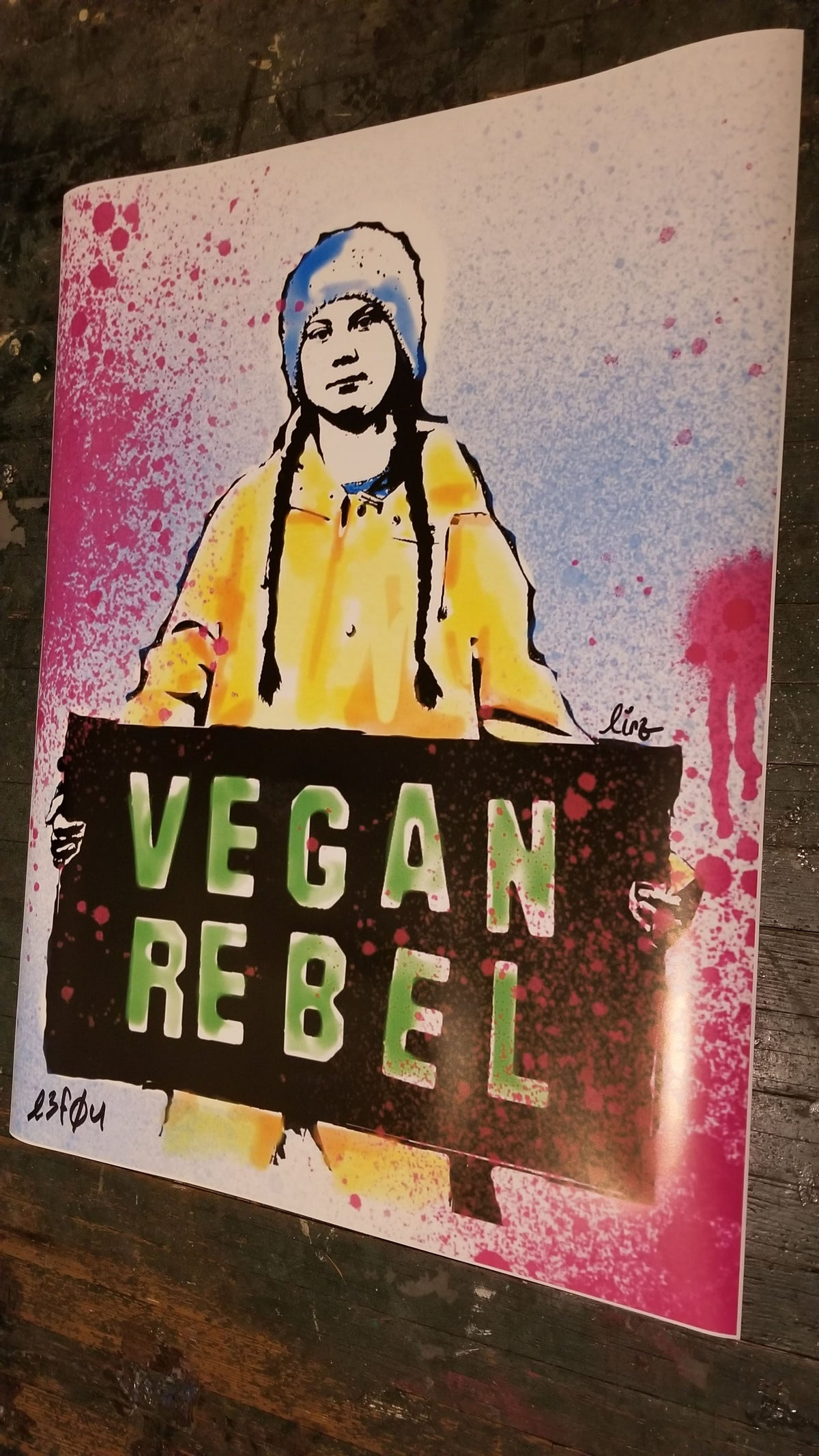 Ltd Edition Greta Thunberg Poster or Newsprint collab with Lindsay Lewis