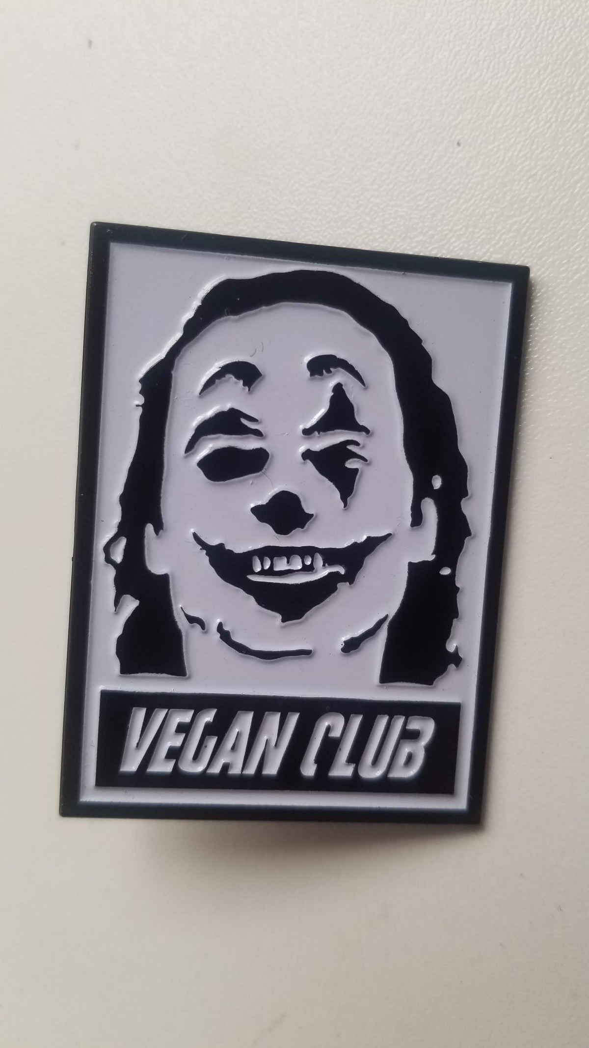 Vegan Club Pin featuring the Joker