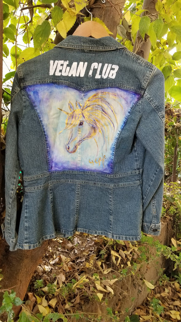 Jean Jacket featuring a Horse Collaboration with Gloria Gene