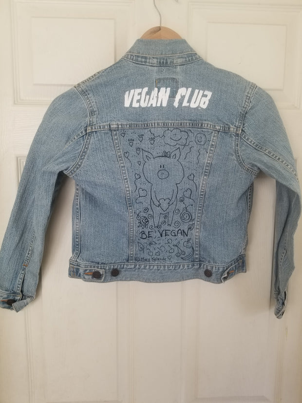 One of a Kind Upcycled Jean Jacket for Kids collab with Mary Kolende
