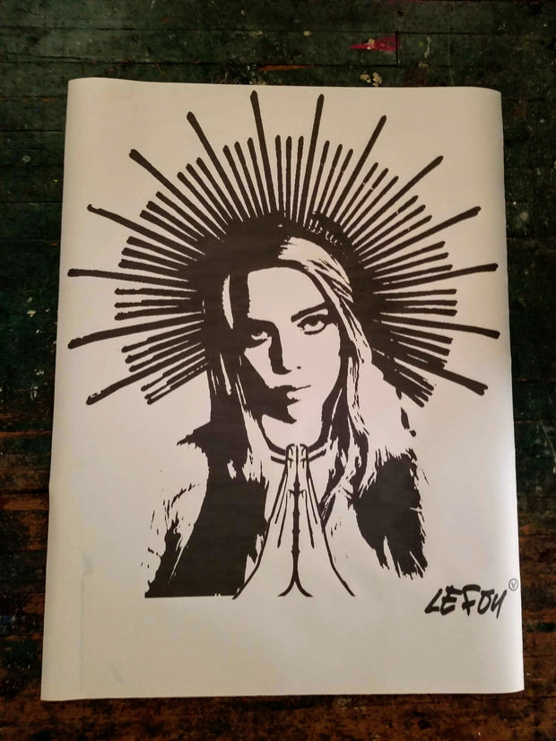 NewsPrint Poster Holy Vegan Billie Eillish
