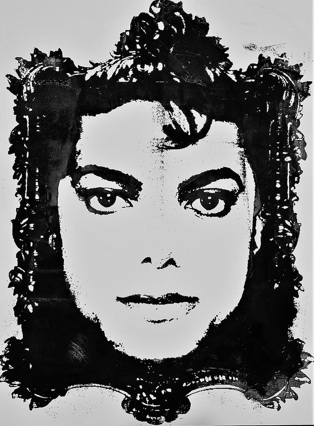 "18x24 Original Artwork Michael Jackson, ""Man in the Mirror"""
