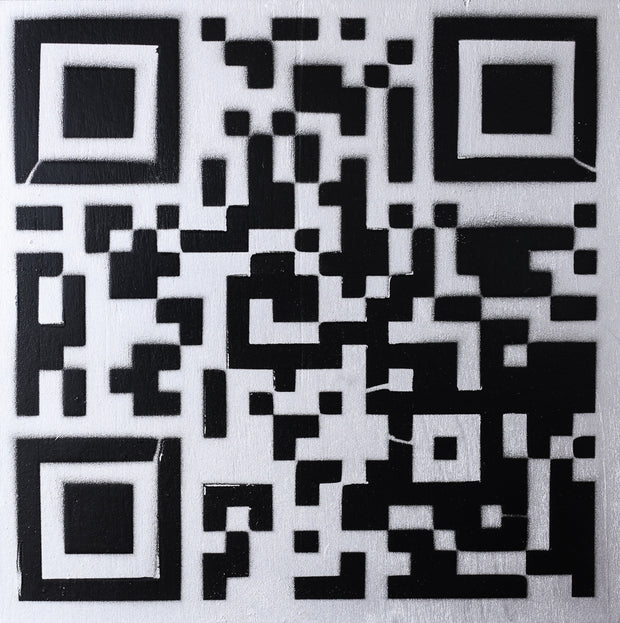 Original Artwork QR Code (Actual Size of a Hen Cage) Black & White