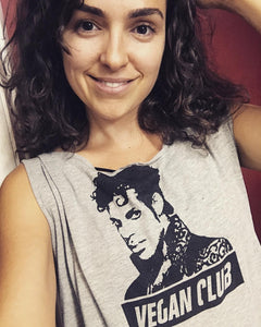 "Unisex T-shirt ""Vegan Club"" featuring Prince with handmade art by L3f0u - models @shapeupwithjoy @tapoutwali @eva_von_eben @lrk_kung"