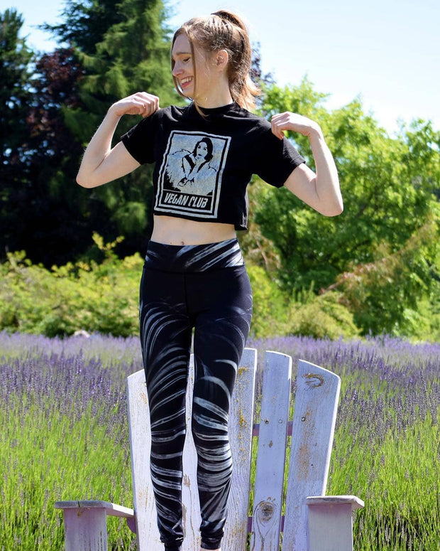 "Limited Edition Organic Made in USA T-shirt ""Vegan Club"" featuring Ballerina Agnes Muljadi @artsyagnes"