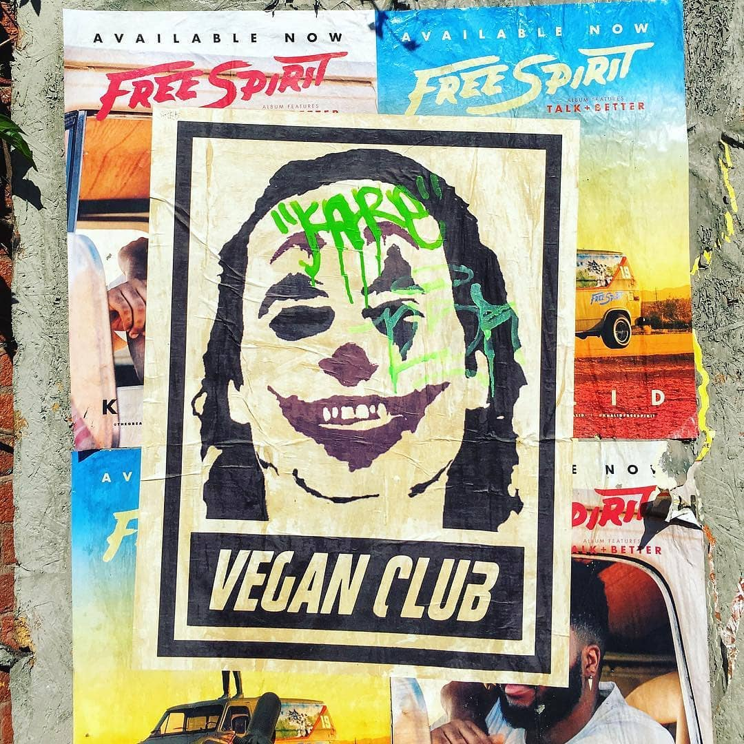 Newsprint Poster Vegan Club feat. Joker Joaquin Phoenix