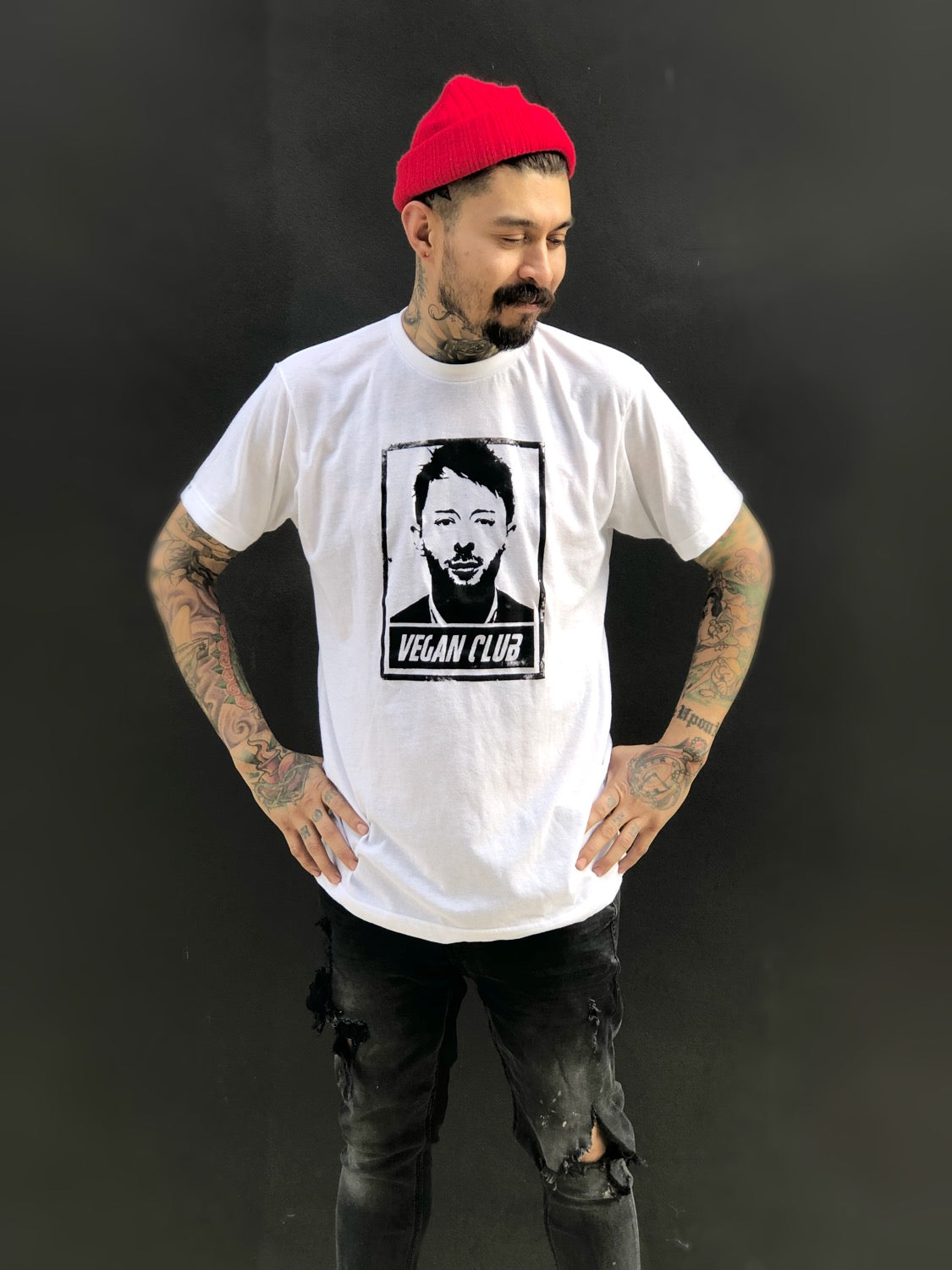 "Unisex T-shirt ""Vegan Club"" featuring Thom Yorke"
