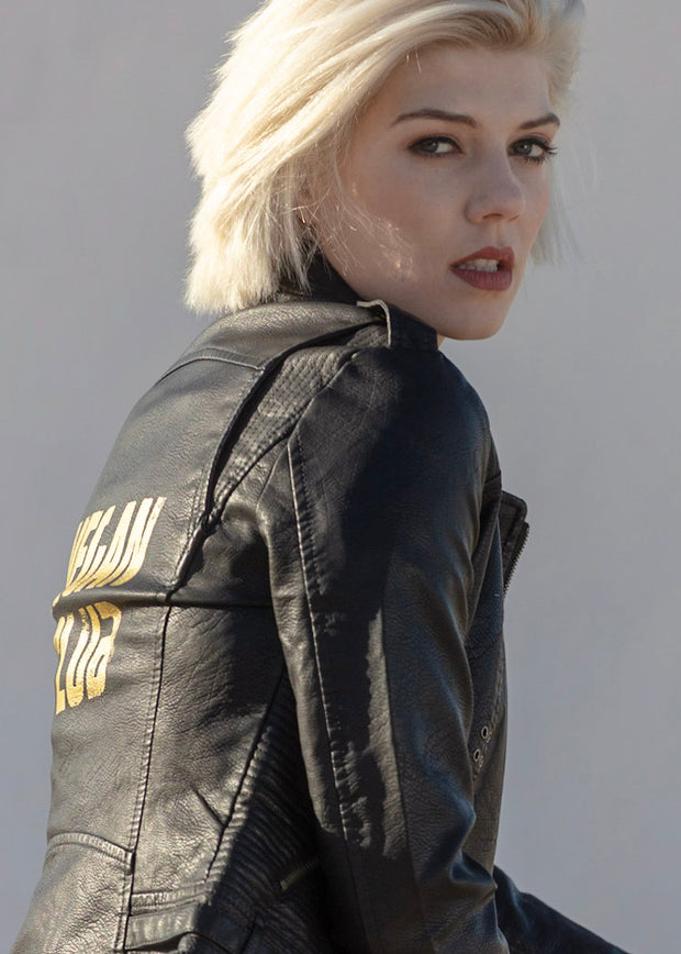 Ltd Edition PETA-Approved Faux-Leather Jacket Vegan Club by Le Fou