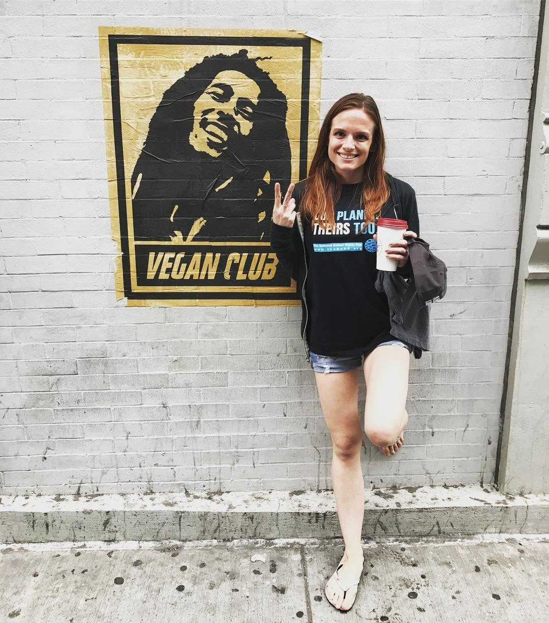 Street Art NewsPrint Poster Vegan Club feat the Rastafari boss of Reggae, Bob Marley signed L3F0u - @mere_rose @metalessmanhattan @loftlifeblog @nickthevegan