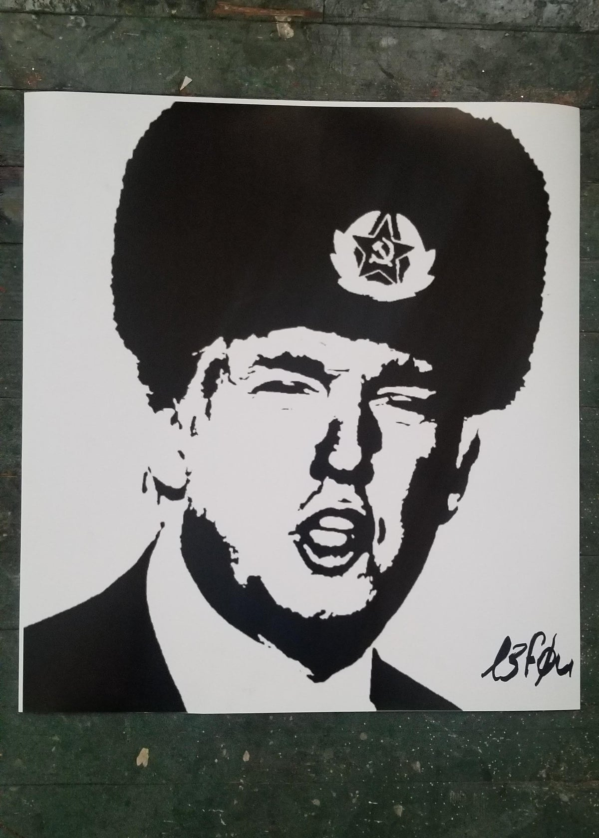 "Ltd Edition ""From Russia with Love"" Trump signed Le Fou"