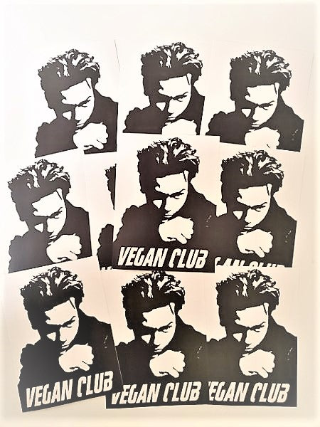 12 Vegan Club River Phoenix (the Vegan James Dean) Stickers