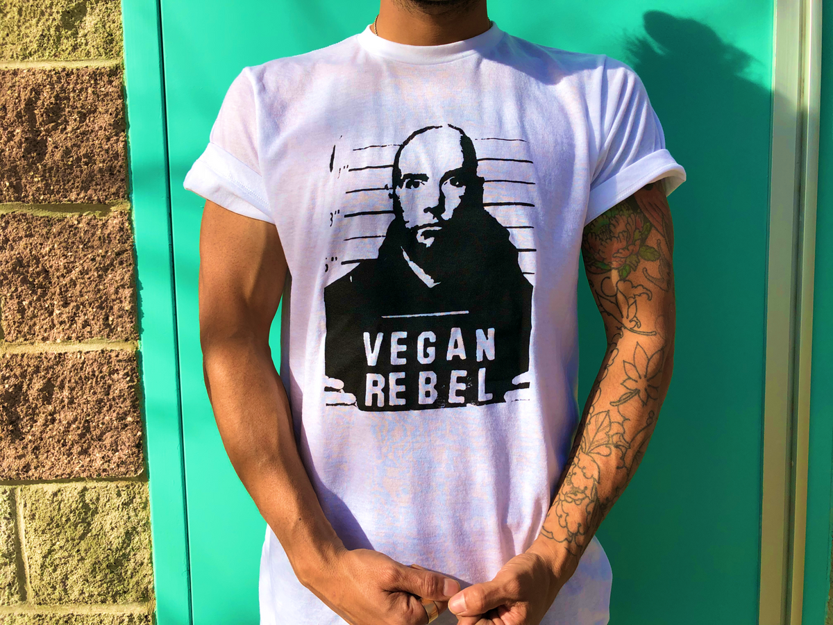Moby Vegan Rebel Mug Shot T-shirt