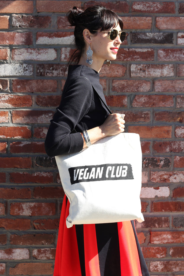 "Cool Tote Bag ""Vegan Club"" - Cool match for your Vegan Club t-shirt ;)"