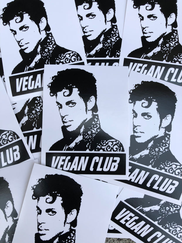 12 Vegan Club Prince Stickers